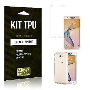 Kit Tpu Samsung j7 prime Película de Vidro + Capa Tpu transparente -ArmyShield