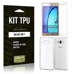 Kit Tpu Samsung on 7 Película de Vidro + Capa Tpu transparente -ArmyShield