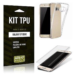 Kit Tpu Samsung s7 edge Película de Vidro + Capa Tpu transparente -ArmyShield