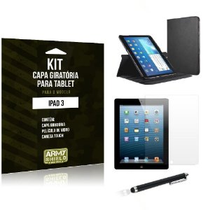 Kit Capa Giratória Apple iPad 3 - Armyshield