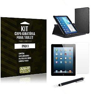 Kit Capa Giratória Apple iPad 3 - Armyshield