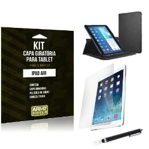 Kit Capa Giratória Apple iPad Air - Armyshield