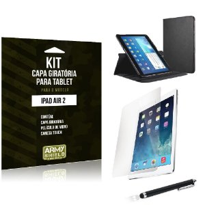 Kit Capa Giratória Apple iPad Air 2 - Armyshield
