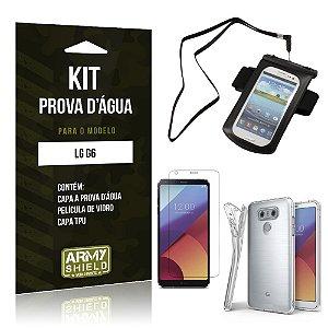 Kit Capa a prova d'agua LG G6  Película de Vidro + Tpu + Capa a prova d'agua - Armyshield