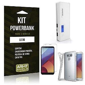 Kit Powerbank  LG G6  Película de Vidro + Tpu + Powerbank 10000mah - Armyshield