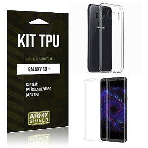 Kit TPU  Samsung Galaxy S8 Plus Película de Vidro + TPU Transparente  - Armyshield
