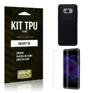 Kit TPU Fumê  Samsung Galaxy S8  Película de Vidro + TPU Fumê  - Armyshield