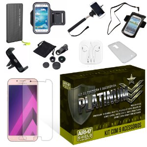 Kit Platinum Samsung Galaxy A3 2017 com 9 Itens - Armyshield