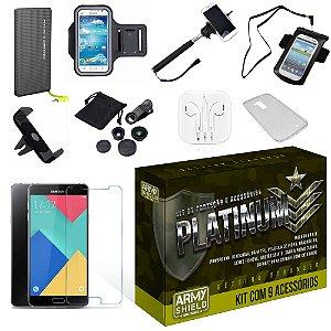 Kit Platinum Samsung Galaxy A5 2016 com 9 Itens - Armyshield