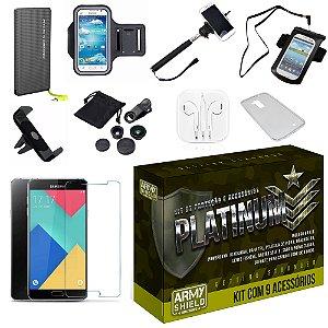 Kit Platinum Samsung Galaxy A7 2016 com 9 Itens - Armyshield