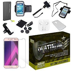 Kit Platinum Samsung Galaxy A7 2017 com 9 Itens - Armyshield