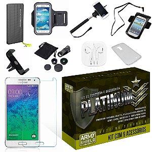 Kit Platinum Samsung Galaxy J2 com 9 Itens - Armyshield
