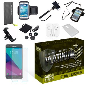 Kit Platinum Samsung Galaxy J3 2017 com 9 Itens - Armyshield