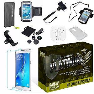 Kit Platinum Samsung Galaxy J5 2015 com 9 Itens - Armyshield