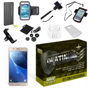 Kit Platinum Samsung Galaxy J7 2016 com 9 Itens - Armyshield