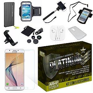 Kit Platinum Samsung Galaxy J7 Prime com 9 Itens - Armyshield