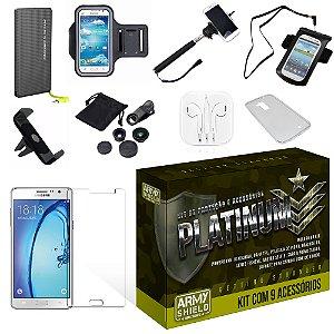 Kit Platinum Samsung Galaxy On7 com 9 Itens - Armyshield