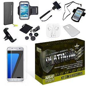 Kit Platinum Samsung Galaxy S7 Edge com 9 Itens - Armyshield