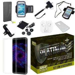 Kit Platinum Samsung Galaxy S8 Plus com 9 Itens - Armyshield