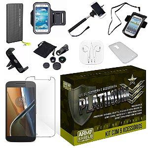 Kit Platinum Motorola Moto G4 Play com 9 Itens - Armyshield
