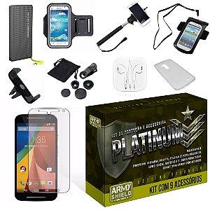 Kit Platinum Motorola Moto G2 com 9 Itens - Armyshield