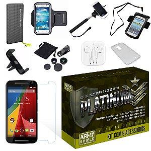 Kit Platinum Motorola Moto G3 com 9 Itens - Armyshield