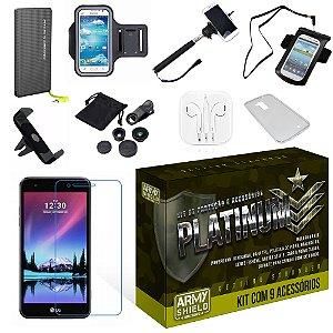 Kit Platinum LG K4 2017 com 9 Itens - Armyshield