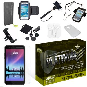 Kit Platinum LG K10 2017 com 9 Itens - Armyshield