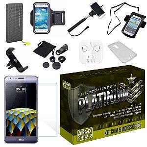 Kit Platinum LG X Cam com 9 Itens - Armyshield