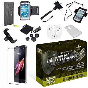 Kit Platinum LG X Screen com 9 Itens - Armyshield