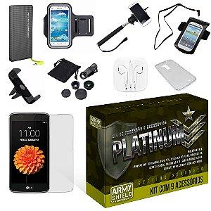 Kit Platinum LG K7 com 9 Itens - Armyshield