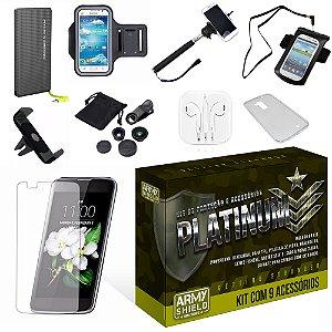 Kit Platinum LG K10 com 9 Itens - Armyshield