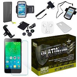 Kit Platinum Lenovo Vibe C2 com 9 Itens - Armyshield