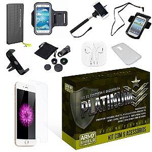 Kit Platinum Apple Iphone 6 Plus/6S Plus com 9 Itens - Armyshield