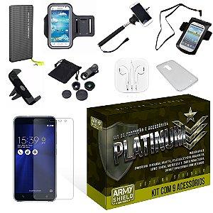 Kit Platinum Asus Zenfone 3 5.2 ZE520KL com 9 Itens - Armyshield