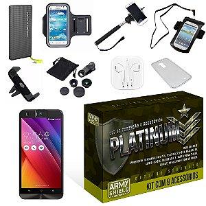 Kit Platinum Asus Zenfone Selfie ZD551KL com 9 Itens - Armyshield