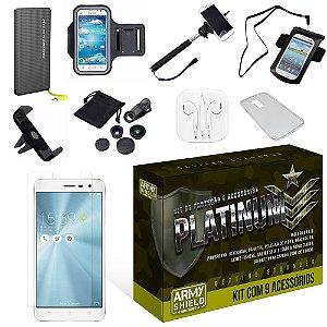 Kit Platinum Asus Zenfone 3 Max 5.2 ZC520TL com 9 Itens - Armyshield