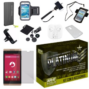 Kit Platinum Positivo Selfie S455 com 9 Itens - Armyshield