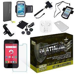 Kit Platinum Positivo One S420 com 9 Itens - Armyshield