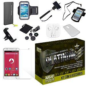 Kit Platinum Positivo S550 com 9 Itens - Armyshield