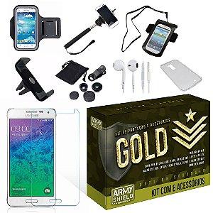 Kit Gold Samsung Galaxy J2 com 8 Itens - Armyshield