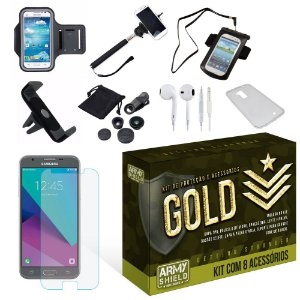 Kit Gold Samsung Galaxy J5 2017 com 8 Itens - Armyshield