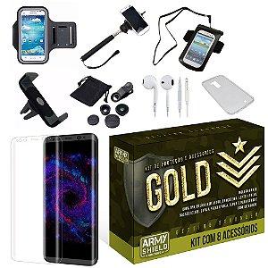 Kit Gold Samsung Galaxy S8 com 8 Itens - Armyshield