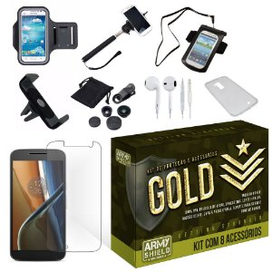Kit Gold Motorola Moto G4 com 8 Itens - Armyshield