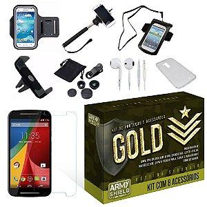Kit Gold Motorola Moto G3 com 8 Itens - Armyshield