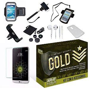 Kit Gold Motorola Moto G5 com 8 Itens - Armyshield