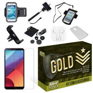 Kit Gold LG G6 com 8 Itens - Armyshield