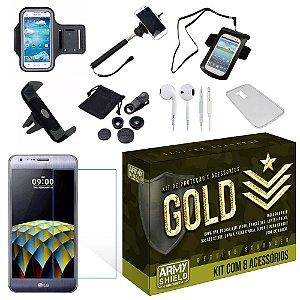 Kit Gold LG X Cam com 8 Itens - Armyshield
