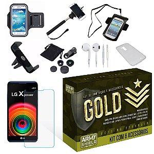 Kit Gold LG X Power com 8 Itens - Armyshield