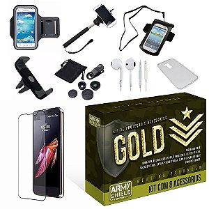 Kit Gold LG X Screen com 8 Itens - Armyshield